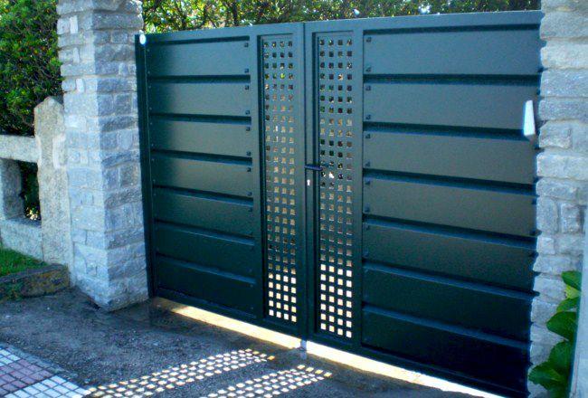 Batientes construcciones met licas cerrisan alicante - Como pintar puertas de sapeli ...